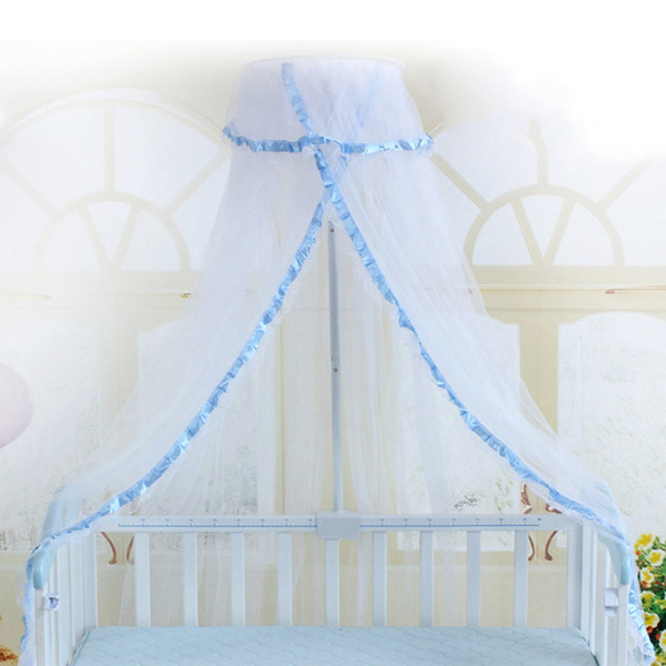 Summer Crib Netting Mosquito Net Baby Infant Round Bed Canopy For Cribs Not Include Holder Q190530