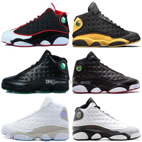 Ucuz Yeni 13 13 s Kap Ve Kıyafeti Terracotta Allık Erkek Basketbol Ayakkabı Chicago Kurt Gri DMP Flints Bred Erkekler Spor Sneakers Tasarımcı Eğitmenler