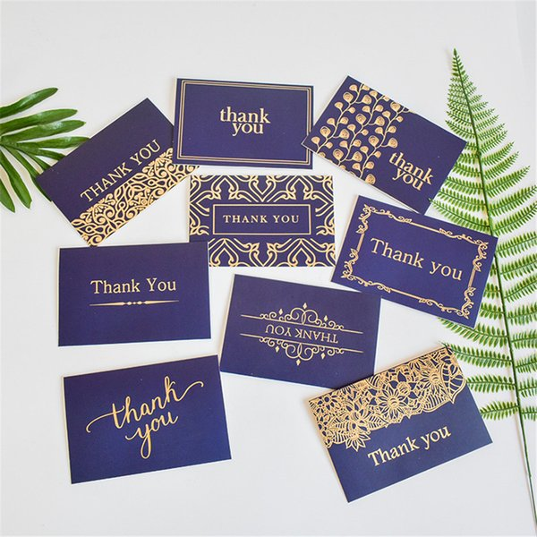 Creative Thank You Cards Bulk Notes Navy Blue Gold Blank Note Cards With Envelopes Invitation Birthday Party Holiday Greeting Cards Homemade Cards