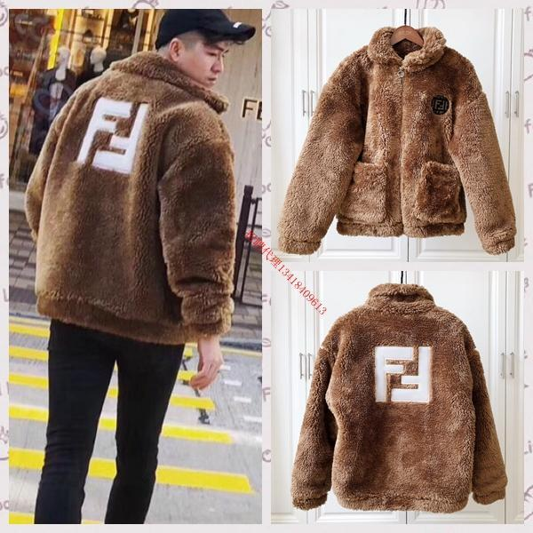 2018 Autumn Winter New Mens Jackets Letters High Quality Embroidery Warm Zipper Plush Men and Women Jacket Size S-2XL