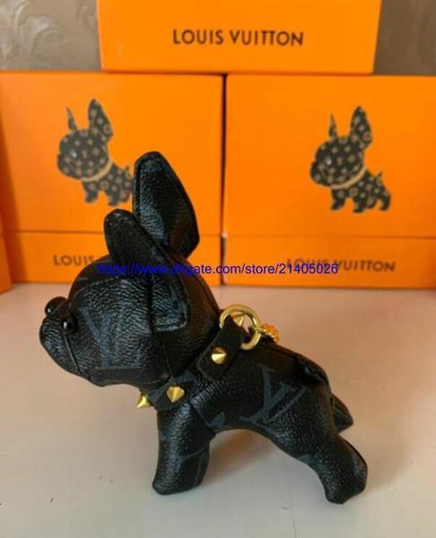LouisVuittonchaveiros BulldogBolsaDog marca chaveiro chaveiro para mulheres meninas Chave do carro Cadeia Trinket Jóias presente Souvenirs