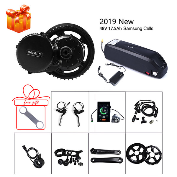 Bafang 48V 750W Mid Motor E-bike Conversion Kits SCP BMS Lithium Battery 17.5Ah Samsung Cells Ebike BBS02B Electric Bicycle Part