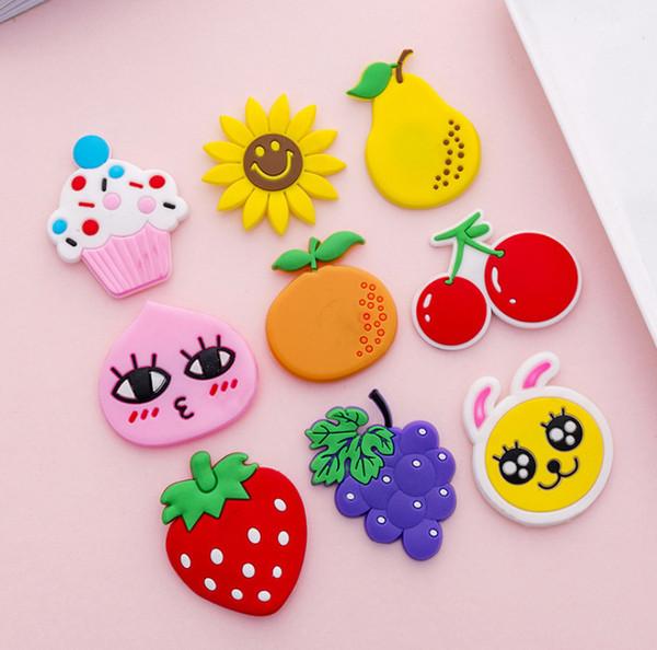 2019 New Cartoon Kids Fruits Banana Strawberry Watermelon Apple Grape Pear Fridge Magnets Souvenir Magnetic Sticker
