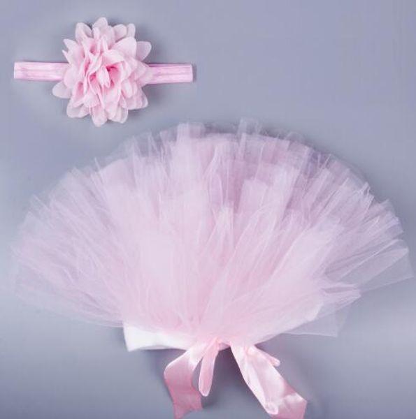 Детское платье Розовый Новорожденных Туту Одежда Voile Новорожденных девочек платье + повязка на голову вязаные крючком фото опора наряды