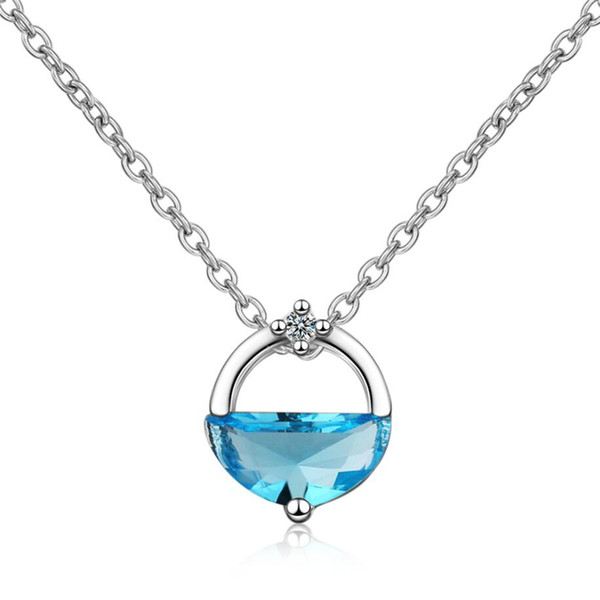 Sole Memory Summer Cool Spring Literature Crystal Sweet 925 Sterling Silver Clavicle Chain Female Necklace SNE420