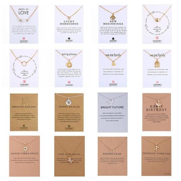DHL barato atacado infinito amor encantos mulheres moda colar colares de design de marca com cartão