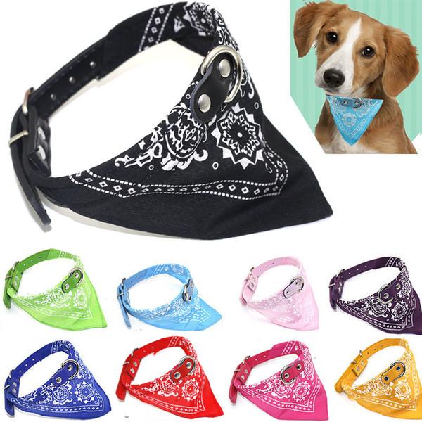Pet triangle collar 9 colors adjustable puppy cat scarf cat bib small dog Teddy dog saliva scarf pet supplies