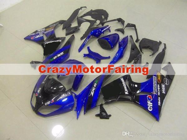 3 Free gifts New Motorcycle Fairing kit 100% Fit for KAWASAKI Ninja ZX6R 636 2009 2010 2011 2012 09 10 11 12 6R Bodywork set blue black UK
