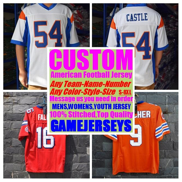 hot sale online eb345 94289 2019 Custom American Football Jerseys College Cheap Authentic Rugby Retro  Sew Sports Jersey Stitched Mens Womens Youth Kids 4xl 5xl 6xl 7xl 8xl From  ...