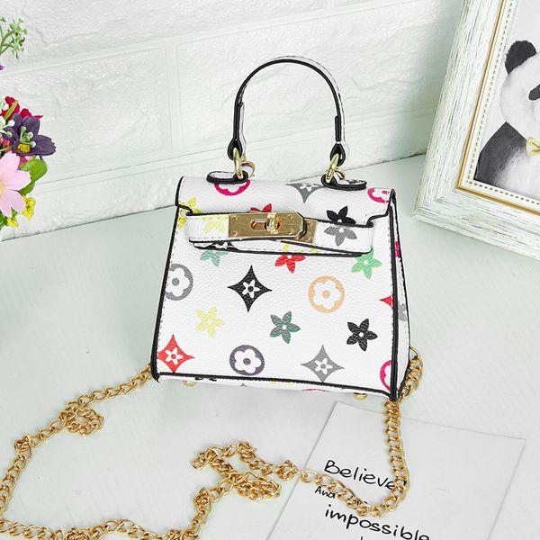 Sacs à main enfants imprimer Designer bébé Mini sac à bandoulière Sacs à bandoulière Adolescent enfants Filles Messenger Sacs chaîne Sac Jolie Princesse Rectangle
