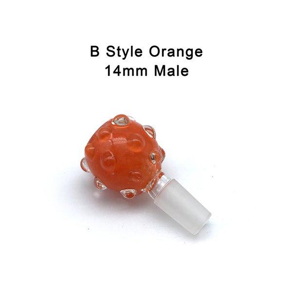 B- 14mm Male Orange