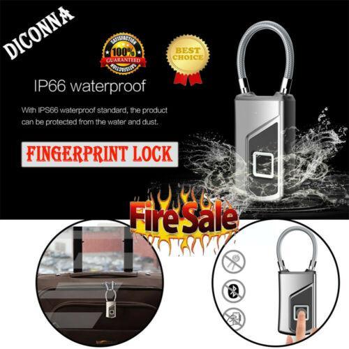 Mini Akıllı Parmak İzi USB Şarj edilebilir Sırt Çantası Çanta Akıllı Kilit Anti Theft