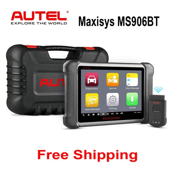 Autel Maxisys MS906BT Versão Atualizada Do MS906 DS708 DS808 OBD2 Bluetooth Auto Diagnóstico Scanner Leitor de Código de Codificação ECU OBDII Ferramenta de Verificação