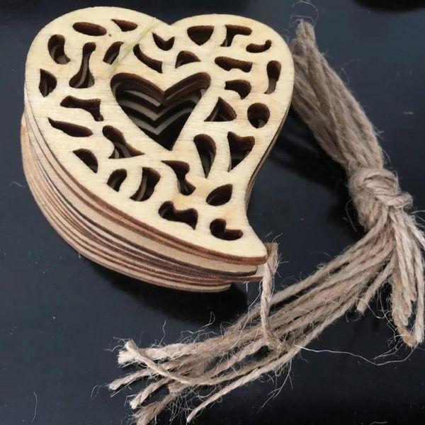 wooden decorative heart wooden heart shape laser cutting