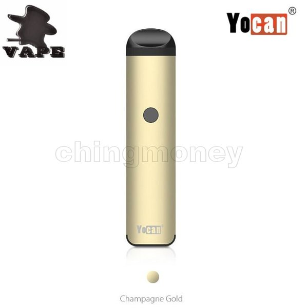Auténtico Yocan Evolve 2.0 Kit Vape650mAh Batería incorporada 1.0ml Capacidad Pod Ceramic Quartz Dual Coil E Cigarettes envío gratis