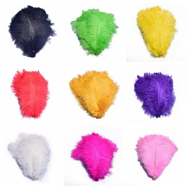 Piume colorate da 12-14 pollici piume di struzzo per le decorazioni per la casa