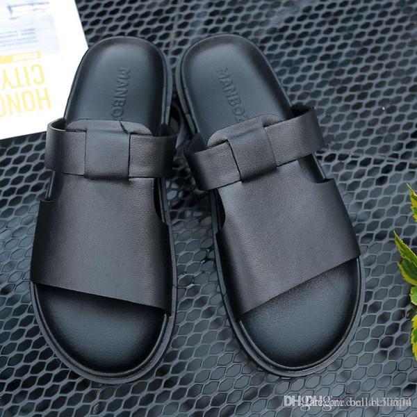 Summer EVA Massage Slippers designer Sandals Men Sandals Fashion Hollow Out Breathable Beach Slippers Non-Slip Flip Flops sandals