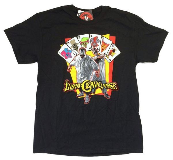 Wahnsinniger Clown Posse Tongue Out kardiert schwarzes T-Shirt New Official ICP Merch