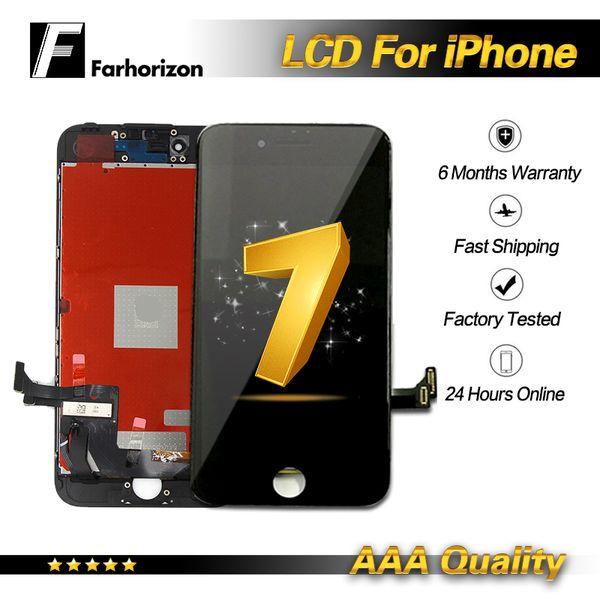 IPhone 7 için LCD Ekran Beyaz Siyah LCD Ekran Dokunmatik Digitizer Çerçeve Meclisi Onarım iPhone 7 Ücretsiz DHL Kargo