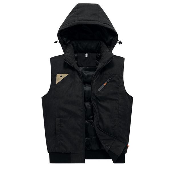 New Stylish Autumn Winter Vest For Men High Quality Hood Jacket Male Sleeveless Casual Coats Gentlemen Waistcoat Size M-4XL