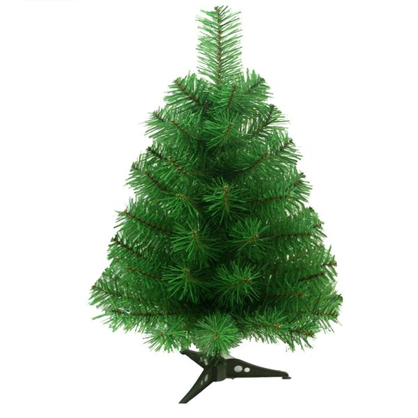 60cm Artificial Christmas Tree with Plastic Stand Holder Base for Christmas Home Party Decortaion (Green)