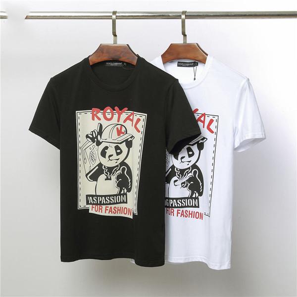 Diseñador para hombre de la camiseta de los hombres de lujo de la marca Breathablel Venta caliente Estampado de animales para hombre de manga corta Casual Hombres Verano Camiseta Tamaño M-2XL