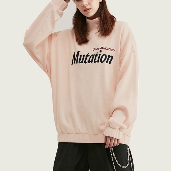 Toptan Tasarımcı Marka Streetwear Hip Hop Womens Uzun Kollu Tişört Harf Baskı Mürettebat Boyun Gevşek Pembe Tişört Üst Kalite B101655V
