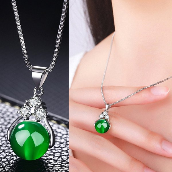 Necklace Female Clavicle Chain Japan And South Korea Short Paragraph Simple Wild Transfer Beads Crystal Pendant Jewelry Wholesale