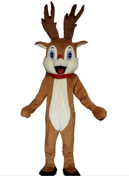 red nose reindeer mascot costume for adult
