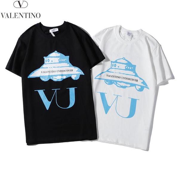 2.020 novas algodão de luxo de alta qualidade grande homens da marca e T-shirt em torno do pescoço das mulheres T-shirt de manga curta populares moda 039