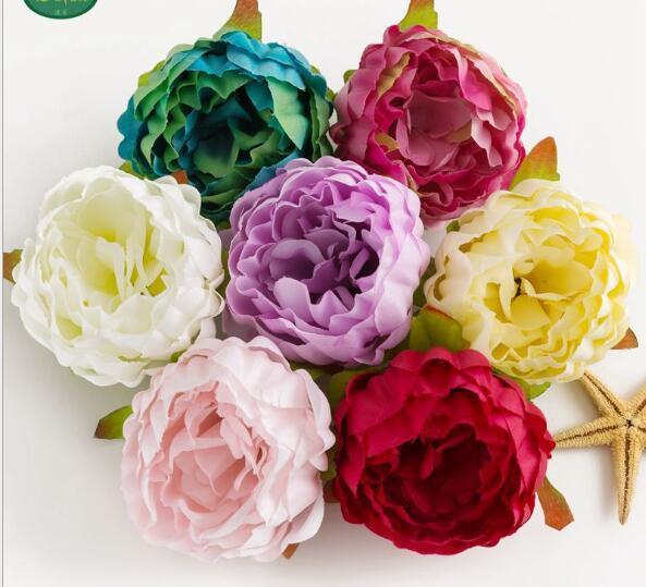 Simulierte Pfingstrosen-Blumehochzeits-Wand-Hintergrund-Wand-Kopfbedeckungs-Schuhe und Hut-Verzierungs-Blumen-Anordnung W918