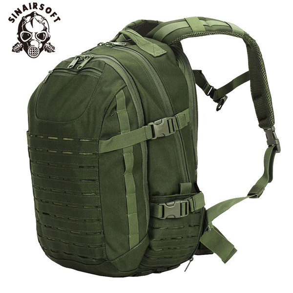 SINAIRSOFT Tactical Dragon Egg Backpack 25L Laser Cut Multi-purpose 15 Inches laptop Rucksack Fishing Camping Bag