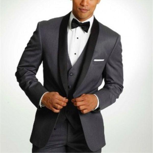 Un bouton sur mesure garçons d'honneur châle revers marié smoké hommes costumes costumes mariage / bal / dîner meilleur homme blazer (veste + pantalon + cravate + veste) A360