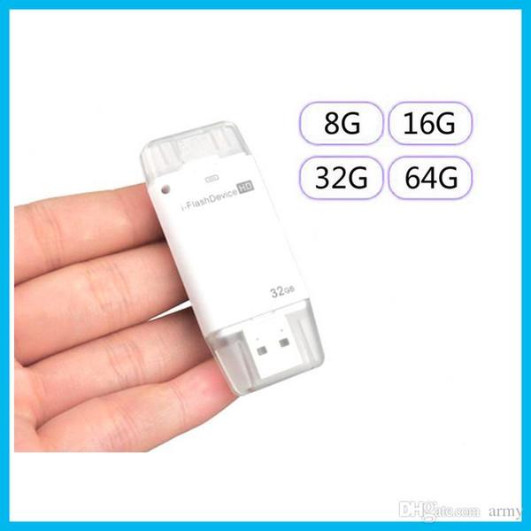 1288G 16G 32G USB Support de lecteur i-Flash Lightning Plug All Devices HD avec 8-64G clé USB