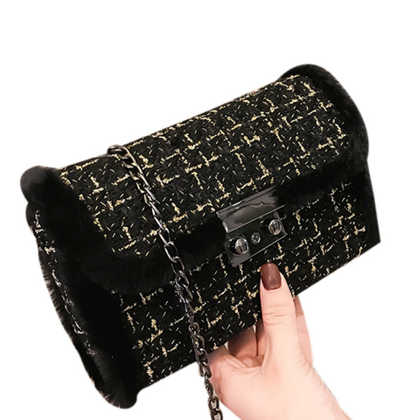 Inverno Nova Moda Bag Mulheres Mensageiro Sacos De Pérolas Cadeia Saco De Ombro Das Mulheres Pequenas Para Bolsas