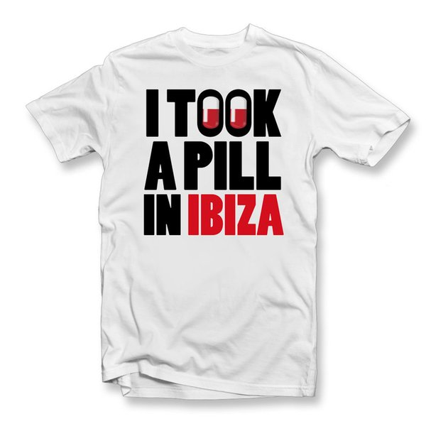 Ho preso una pillola in IBIZA MAGLIETTA | Unisex T-shirt | Signore Mens | Tutte le dimensioni Disp uomini tessuto a maglia comodo Nuovo Tee Stampa