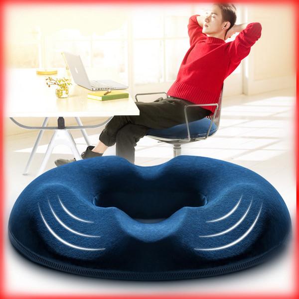 Espuma de memória Almofada Do Assento Oco Respirável Sofá Decorativo Travesseiro Cor Sólida Malha De Cristal De Veludo Belas Nádegas Almofadas 38dy A1