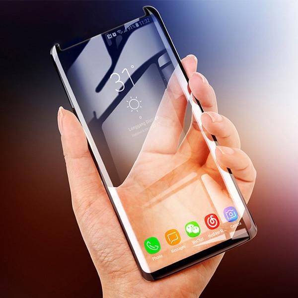 Whosesale Чехол дружественный Стекло Полное Покрытие Для Samsung S10 Plus Note 9 Полный Изогнутый Протектор Клей Edge S8 S7 Edge Note 8