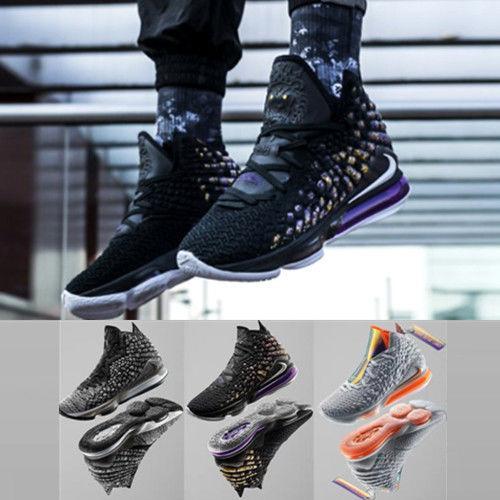 best selling 2019 LeBron mens 17 basketball shoes lbj 17 Oreo Black White Laker Purple Gold Yellow new LBJ17 james xvii basketball shoes size 7~ 12