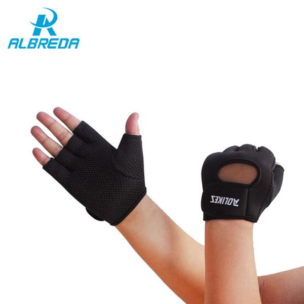 ALBREDA 1 paio di alta qualità multicolore guanti sportivi fitness esercizio palestra slip guanti mezze dita per uomini e donne sport di sicurezza # 103158