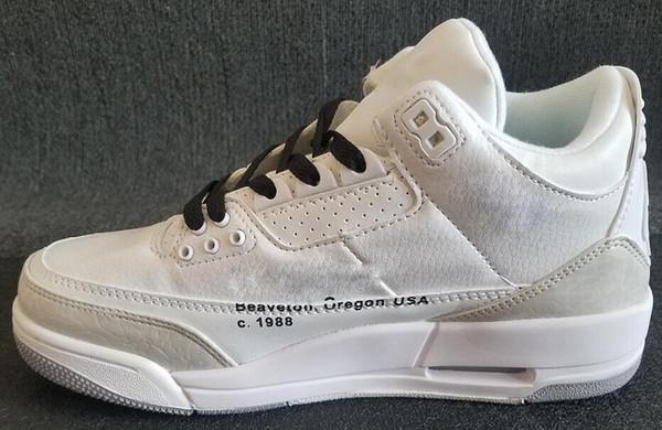 Sıcak satış J3 erkekler basketbol ayakkabı 3 Uluslararası Uçuş ABD Kapalı Tinker JTH Ücretsiz Atış Hattı beyaz Siyah Çimento spor sneaker 7-13 03
