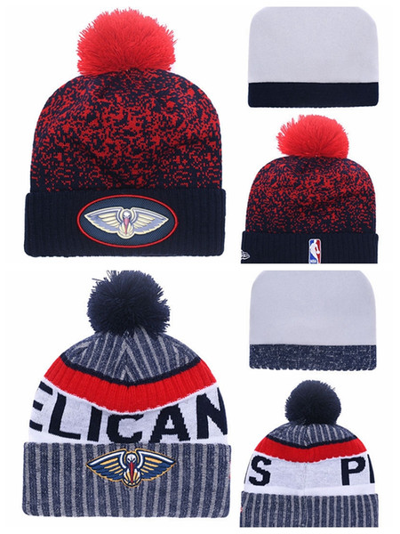 2019 Sale New Orleanspelicans For Men Women Youth 2019nba Sideline Home Official Sport Knit Hat Black Basketball Cap Red Blue From Mimi01 16 25