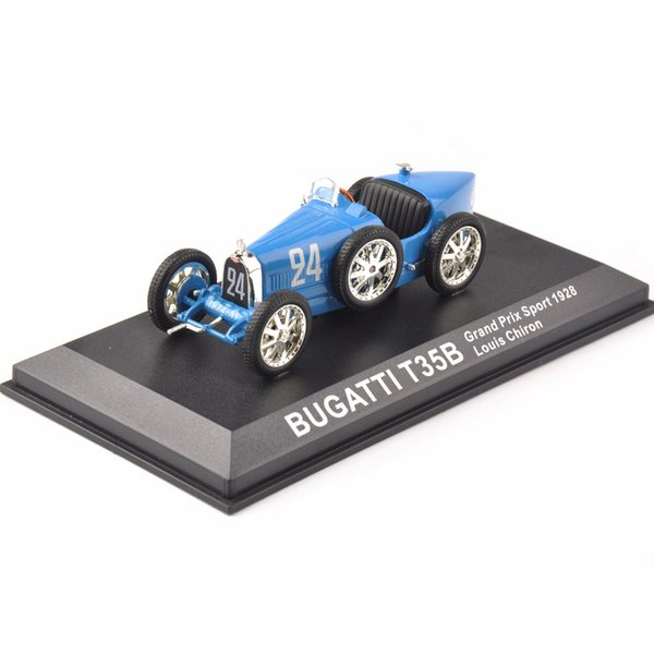 Cheap Kids Toys Diecast 1/43blue Bugatti T35b Grand Prix Sport 1928 Louis Chiron Classic Car New Year Gift J190525