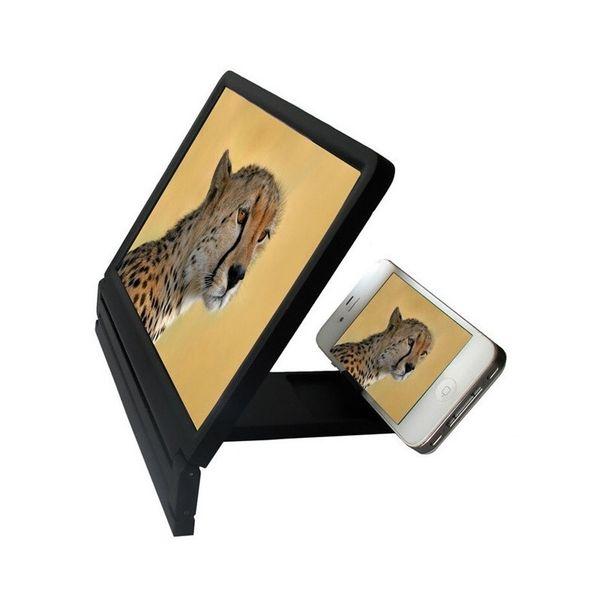 Date mobile écran loupe protection des yeux affichage écran 3D amplificateur de l'écran pliant élargie Stand Expander