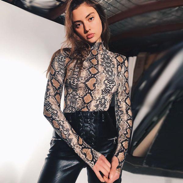 Camicie da donna Nuovo arrivo T-shirt da donna T-shirt manica lunga stampata a maniche lunghe da donna Casual T-XL