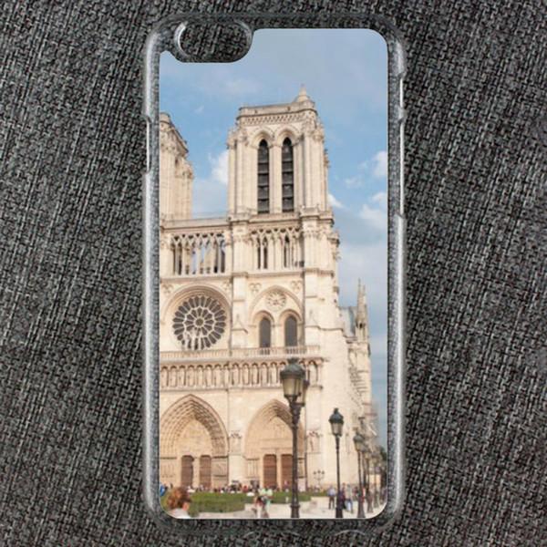 Coque pour iPhone Creative pour iPhone Notre Dame de Paris lors d'une journée d'automne, résistance à la chute, étui de protection antidérapant, souple et pratique