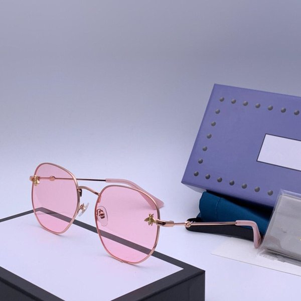 lentes de color rosa marco de oro