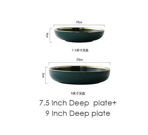 2 deep plate set