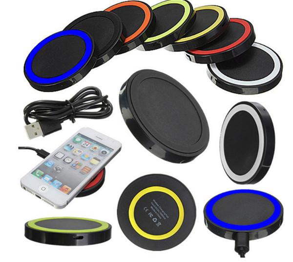 2019 Popular Universal Q5 Carregador Qi Sem Fio Carregador De Carregamento De Energia kit Pad Para iPhone e para Samsung S6