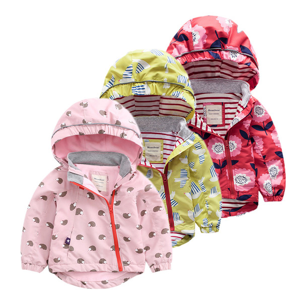 Kids Jackets & Coats for girls Spring Autumn outerwear Children jackets For baby girl windbreaker Casual Clothing Hoodies Jacket